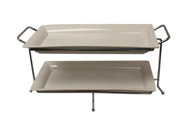 2-tier Buffet Tray (rectangle)