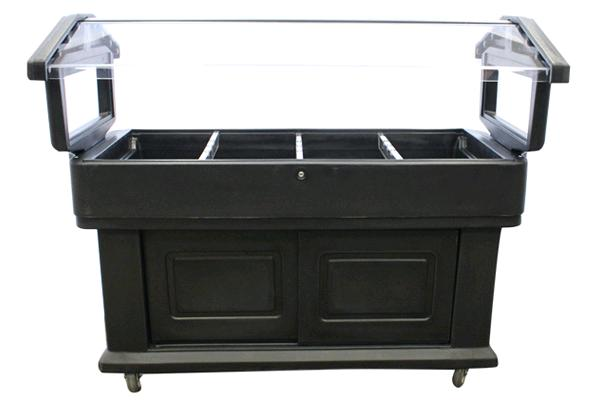 Black Wheeled Salad Table