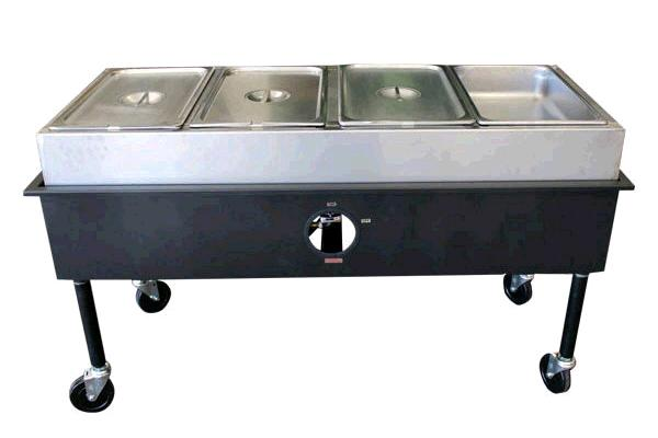 4 Well Propane Steam Table